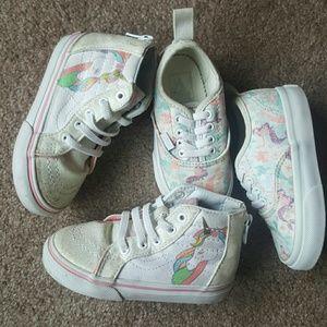 Baby girl vans Disney,unicorn bundle 2 pairs